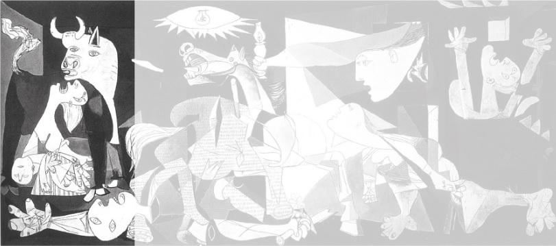 O minotauro ou touro, metade homem, metade touro, pode representar a luta entre o homem e a barbárie.