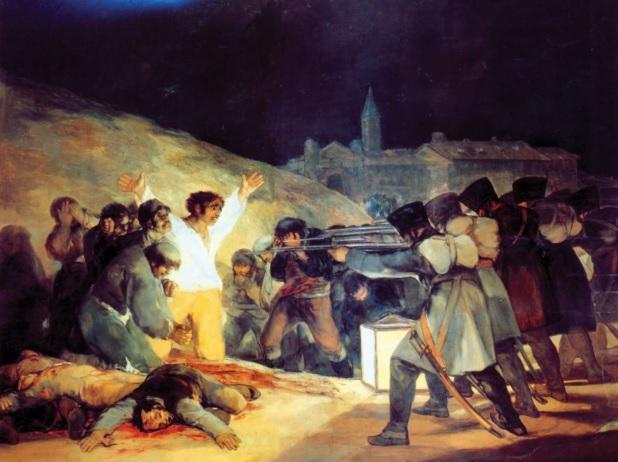 GOYA Y LUCIENTES, Francisco de. O três de maio de 1808 em Madri. 1814.