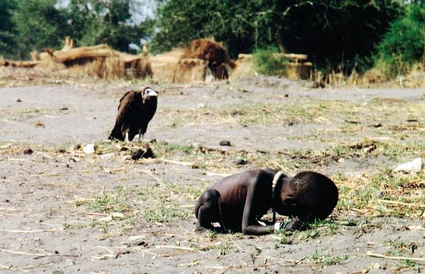 Fotografia premiada com o  Pulitzer de fotojornalismo.
