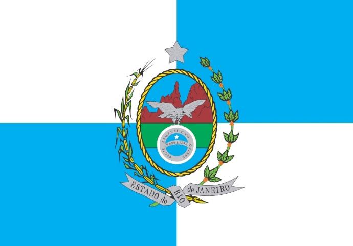 Bandeira Atual do estado do Rio de Janeiro - RJ
