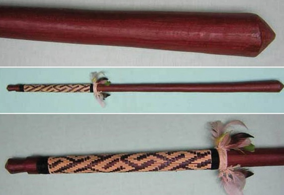 As armas de guerra dos tupinambás incluíam a borduna, tacape que funcionava como um martelo.